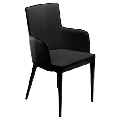 MARA CHAIR WITH ARMS BLACK