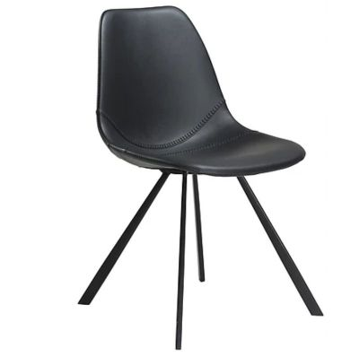 CHARU CHAIR BLACK-BLACK BASE