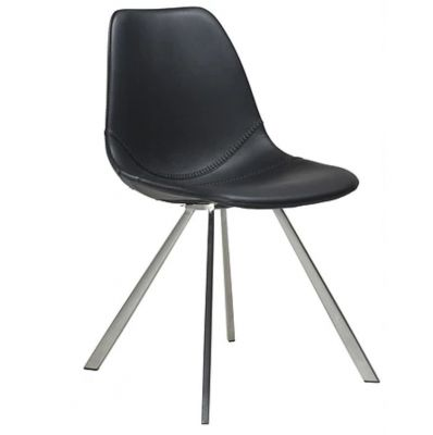CHARU CHAIR BLACK-STAINLESS STEEL