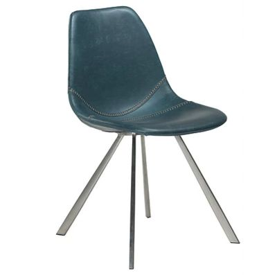 CHARU CHAIR BLUE-STAINLESS STEEL