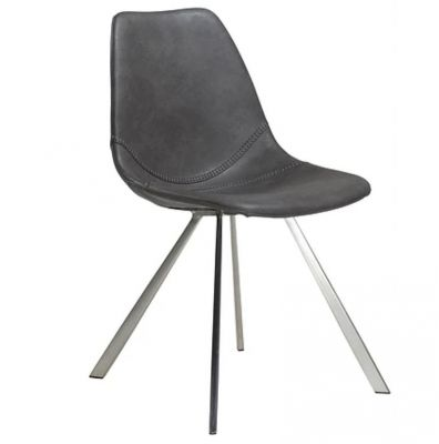 CHARU CHAIR GREY-STAINLESS STEEL