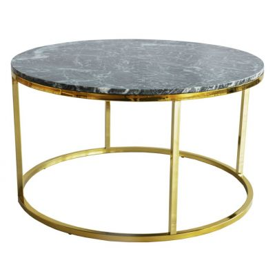 ME GUSTA GREEN MARBLE-GOLD BASE COFFEE TABLE