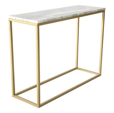 ME GUSTA CONSOLE WHITE MARBLE BRASS BASE 100X35X75 CM