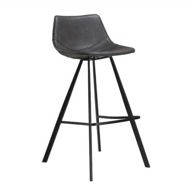VANILLA BAR CHAIR GREY-BLACK BASE