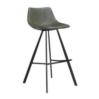VANILLA BAR CHAIR GREEN-BLACK BASE