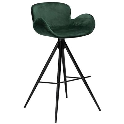KAREN BAR CHAIR GREEN VELVET