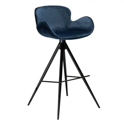 KAREN BAR CHAIR BLUE VELVET