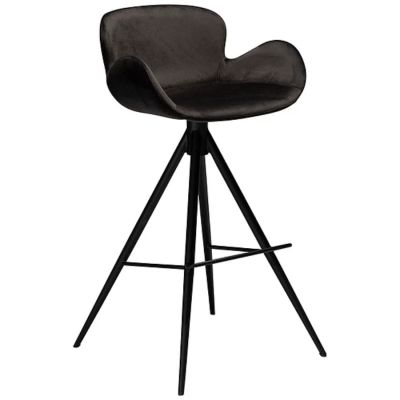 KAREN BAR CHAIR BLACK VELVET