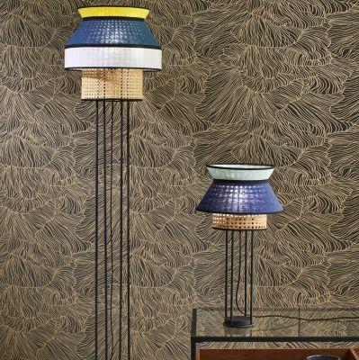 LAMPA POD£OGOWA SINGAPOUR gris clair bleu indigo&anthracite MARKET SET