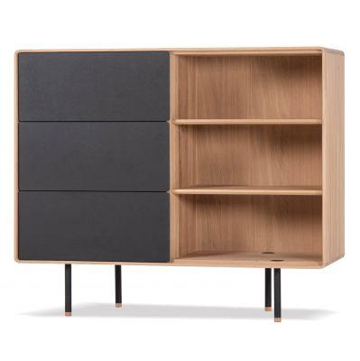 KOMODA DÊBOWA OTTA 118x45x100 cm drawers