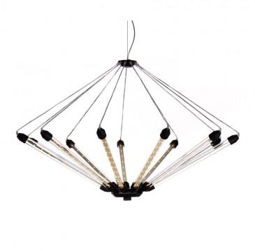 LAMPA WISZĄCA KROON 11 PRZEZROCZYSTA MATOWA CZERŃ MOOOI