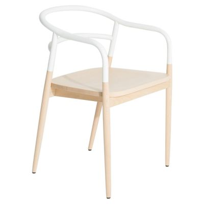 DOJO CHAIR WITH ARMS WHITE PETITE FRITURE