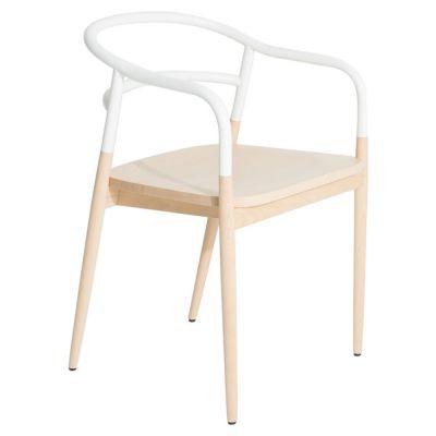 krzes³o dojo z pod³okietnikami bia³e Petite Friture