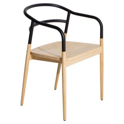 Dojo chair with arms black Petite Friture