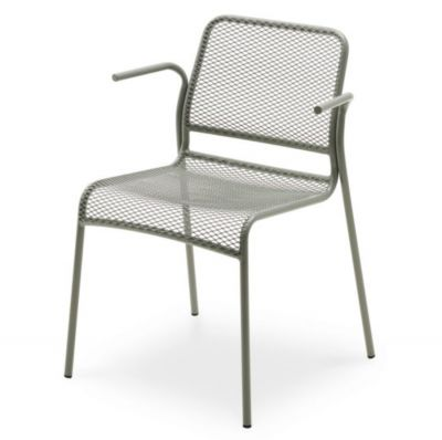 Garden chair with armrests mira grey skagerak