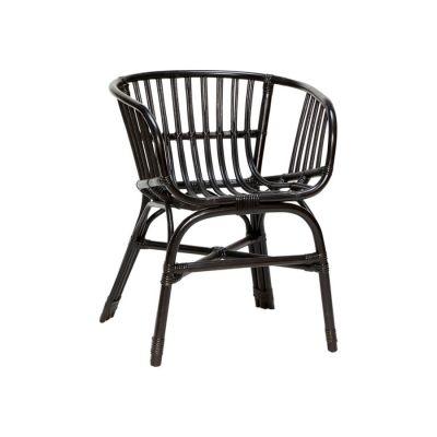 krzes³o rattanowe czarne HUbsch