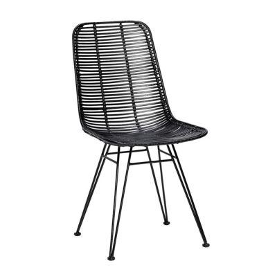 krzes³o rattanowe studio czarne HUbsch