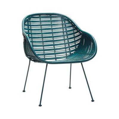krzes³o rattanowe z pod³okietnikami zielone HUbsch