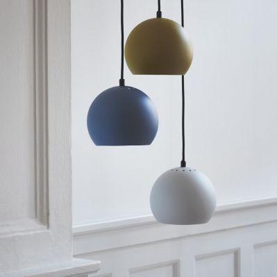 LAMPA WISZĄCA BALL PETROL 18 CM FRANDSEN