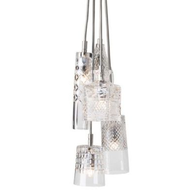 HANGING LAMP CRYSTAL GROUP 5 EBB&FLOW SILVER
