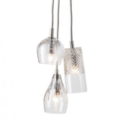 LAMPA WISZ¡CA CRYSTAL GROUP 3 SILVER EBB&FLOW
