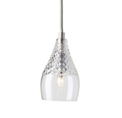 HANGING LAMP HENLEY CRYSTAL SILVER EBB & FLOW