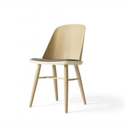 SYNNES CHAIR NATURAL OAK WITH THE LEATHER SEAT MENU
