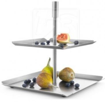 PIANO patera na owoce podwójna, wys. 26 cm ZACK