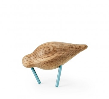 DECORATIVE FIGURE SHOREBIRD SMALL SEA BLUE-OAK NORMANN COPENHAGEN