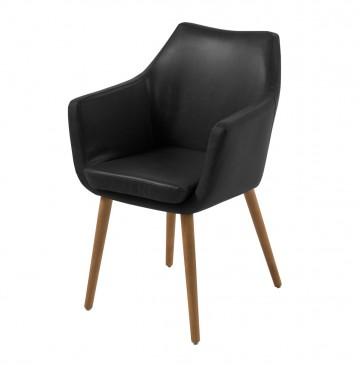 STOCKHOLM BLACK DINING CHAIR