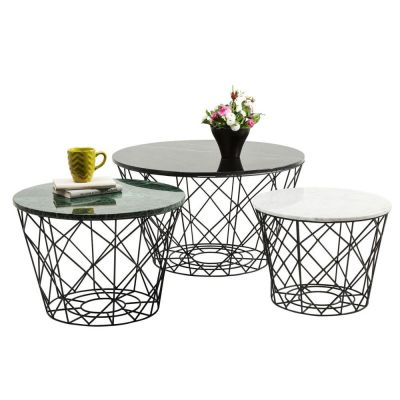 STOLIK KAWOWY EAST ROUND (3 SET) KARE DESIGN