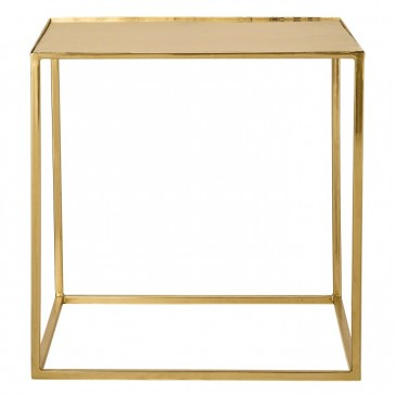 STOLIK CUBE GOLD FINISH BLOOMINGVILLE