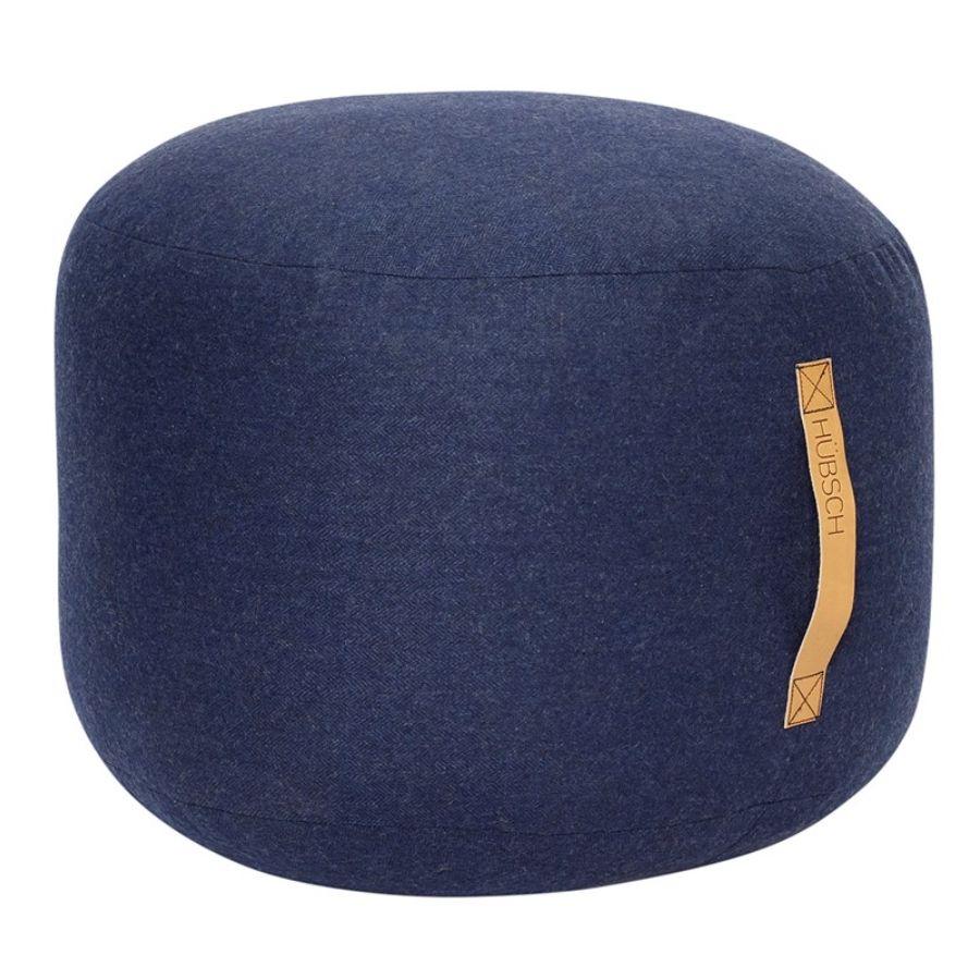 pufa okrągła 50 cm ciemnoniebieska hubsch