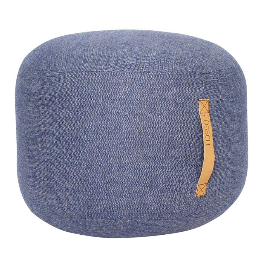 pufa okrągła 50 cm niebieska hubsch