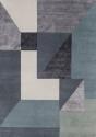 Dywan Trisquare Niebieski Linie Design