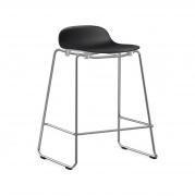 Krzesło Barowe Form Na Chromowanych Płozach Czarne Normann Copenhagen