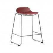 Krzesło Barowe Form Na Chromowanych Płozach Czerwone Normann Copenhagen