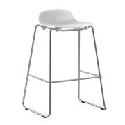 Krzesło Barowe Form Na Chromowanych Płozach Białe Normann Copenhagen