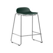 Krzesło Barowe Form Na Chromowanych Płozach Zielone Normann Copenhagen