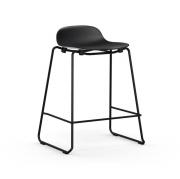 Krzesło Barowe Form Na Lakierowanych Płozach Czarne Normann Copenhagen
