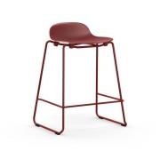 Krzesło Barowe Form Na Lakierowanych Płozach Czerwone Normann Copenhagen