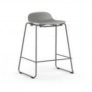 Krzesło Barowe Form Na Lakierowanych Płozach Szare Normann Copenhagen