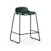 Krzesło Barowe Form Na Lakierowanych Płozach Zielone Normann Copenhagen