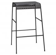 Krzesło Barowe Metal Czarne Hubsch