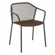 Krzesło Ogrodowe Darwin Z Podłokietnikami Indyjski Brąz Emu