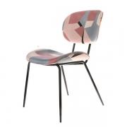 Krzesło Z Geometrycznym Nadrukiem Hkliving