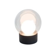 Lampa Stołowa Boule Transparentna-Biała-Czarna S Pulpo