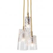 Lampa Wisząca Crystal Group 3 Gold Ebb&flow
