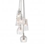 Lampa Wisząca Crystal Group 5 Silver Ebb&flow