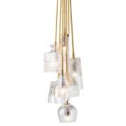 Lampa Wisząca Crystal Group 7 Gold Ebb&flow